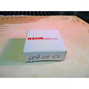 NACHI 609ZZ C3 New Single Row Ball Bearing.